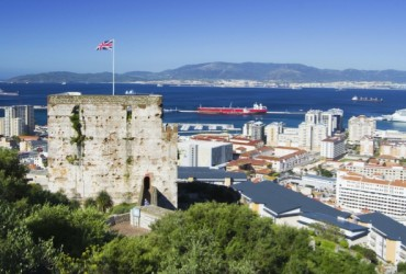 Moorish Castle and city of Gibraltar
