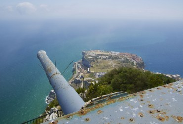 O'Hara's Battery in Gibraltar (UK) - view on southern part of Gibraltar