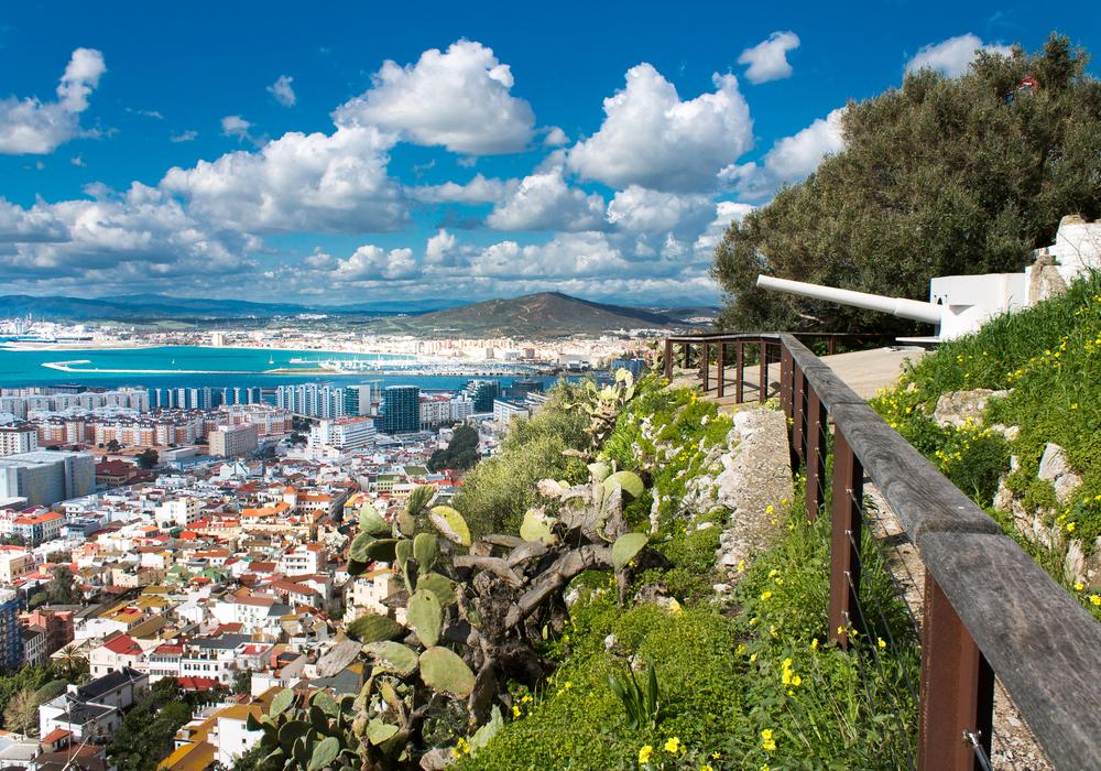 Sunny spring day in Gibraltar